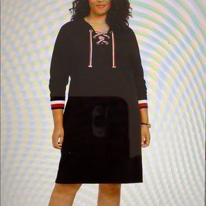 Tommy Hilfiger Lace Up Pullover Dress